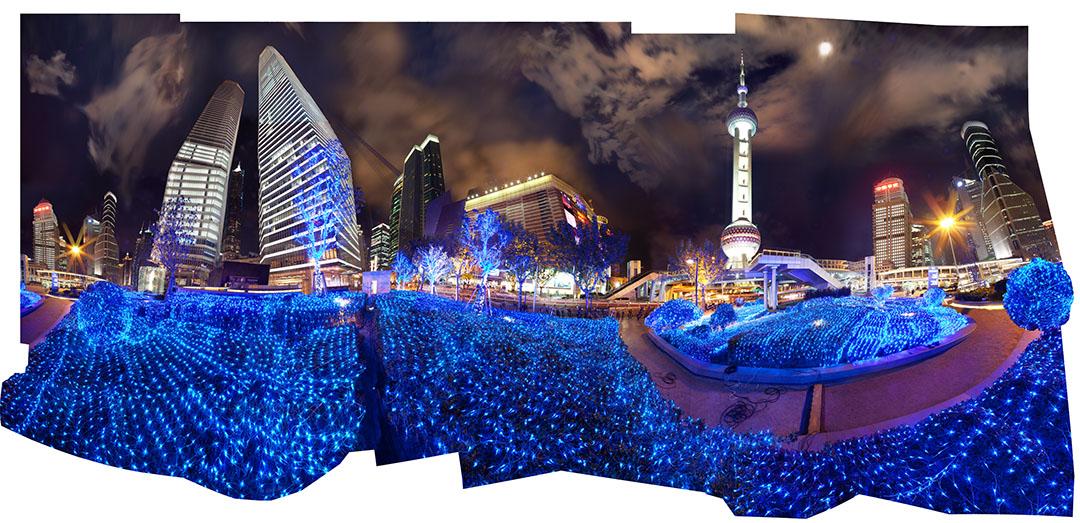 "14-KIDD-MESDAG-The Oriental Pearl (Pudong) 2 51"" x 108"" Chromogenic Print on Aluminum Panel 2012"