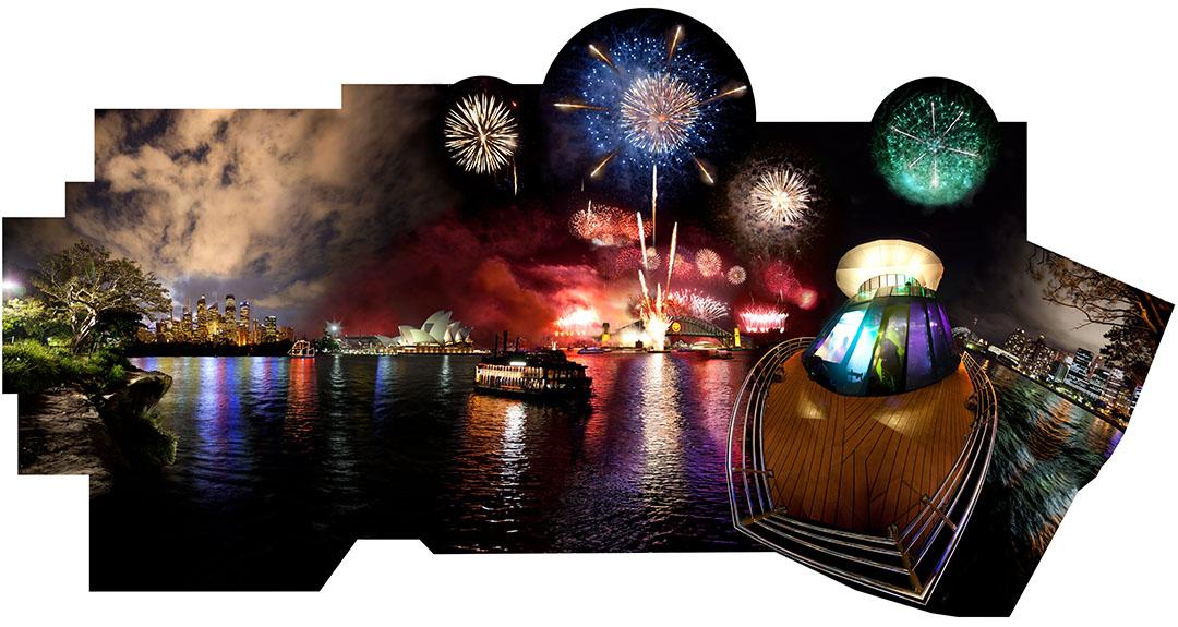 "3-KIDD-MESDAG-Sydney2010-2011 (Star Ship)54"" x108"" Chromogenic Print on Aluminum Panel 2010"