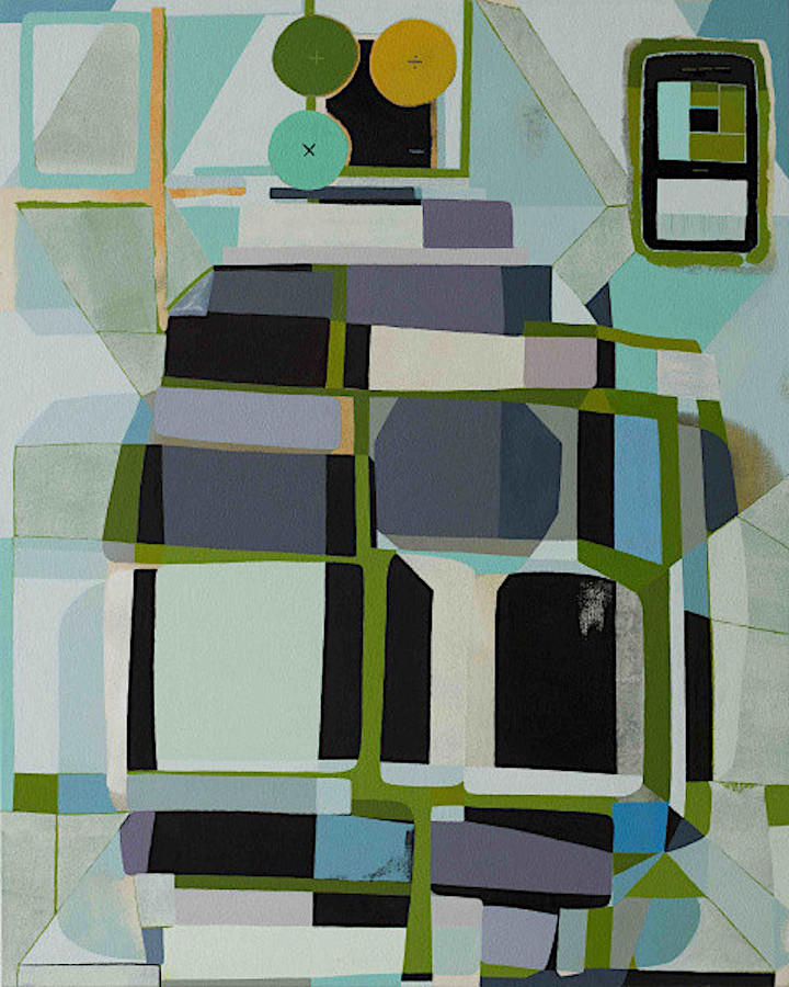 """""""Arithmetic Vessel,"""" a painting by Brad Eberhard. On view at Irvine Fine Arts Center, part of the group exhibition, """"Forms of Abstraction,"""" Jan. 12-Feb. 23."""
